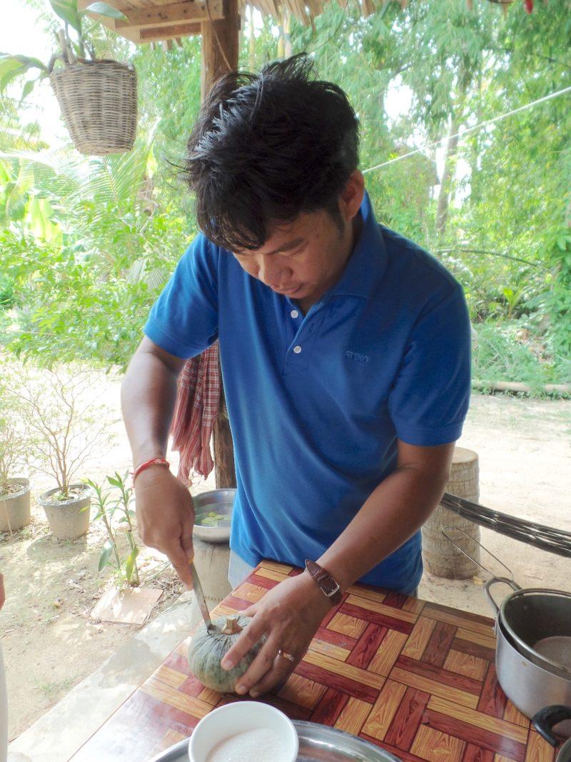 カンボジアのシェムリアップの料理教室のコーディネーター