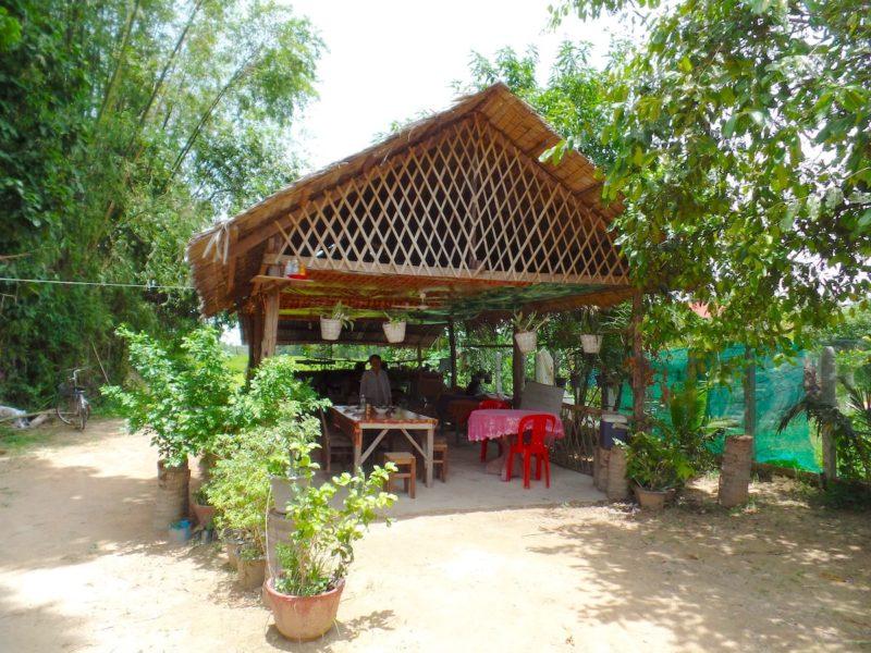 カンボジアのシェムリアップのクッキングクラスの施設外観