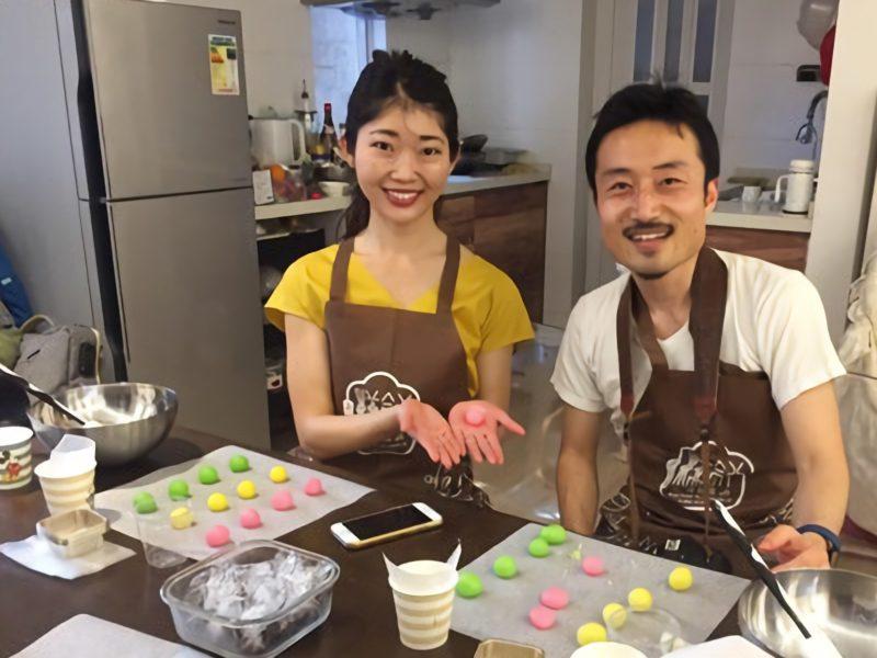 香港にてIced Mooncake作り体験