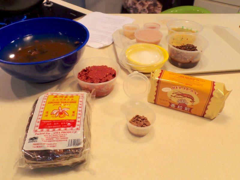 シンガポール料理ミーシアムに必要な調味料