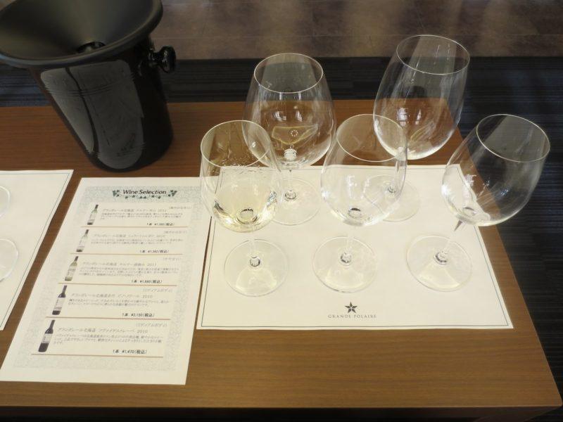 グランポレール白ワイン五種のテイスティング