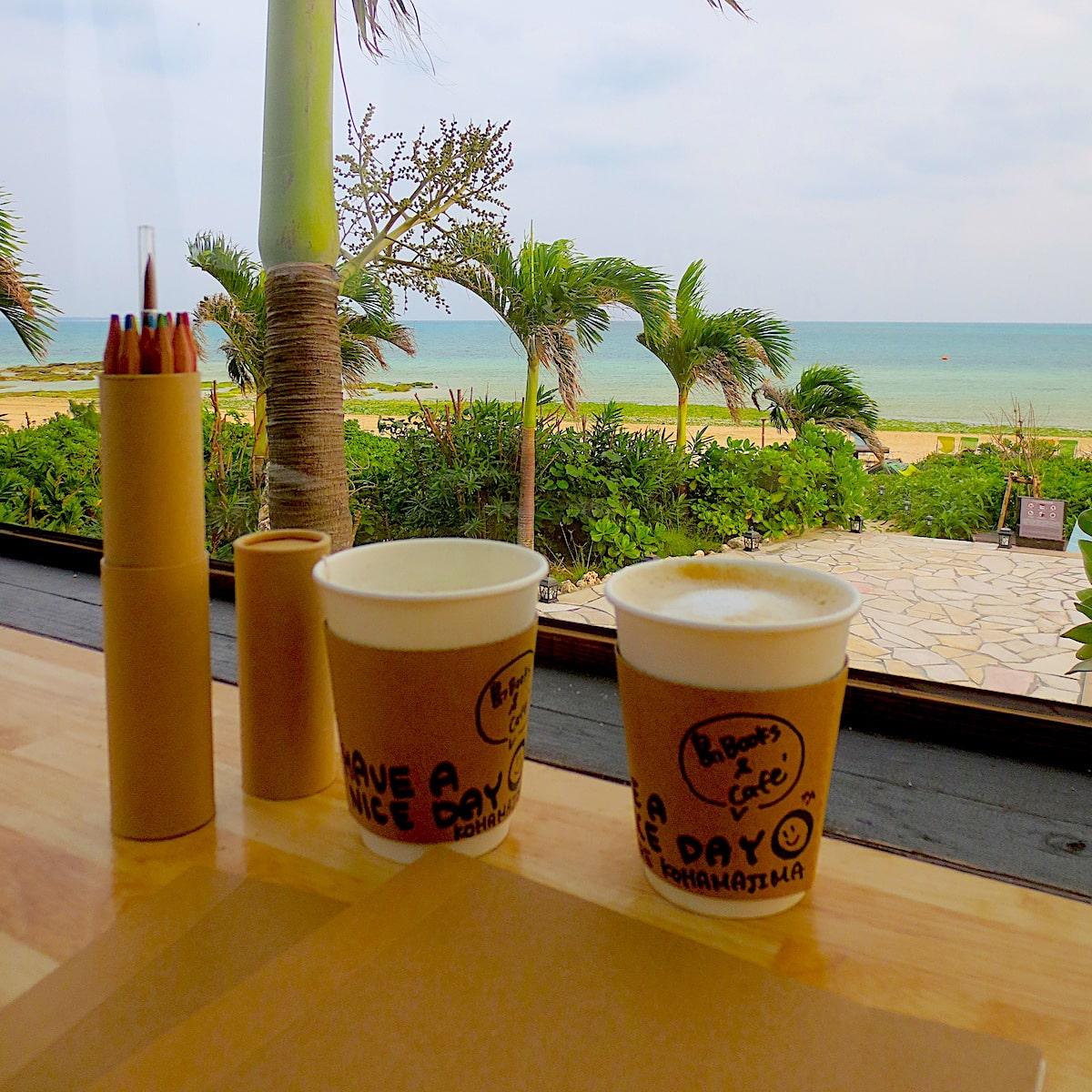 沖縄県小浜島のカフェでコーヒー