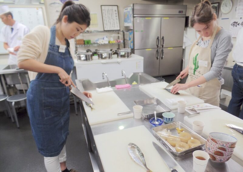 futari style travel cooking sushi class 04