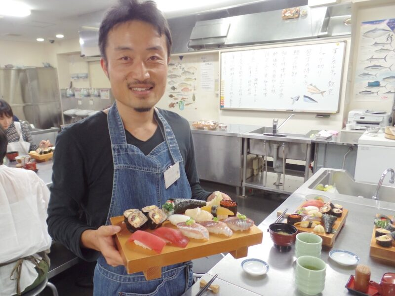 futari style travel cooking sushi class 06